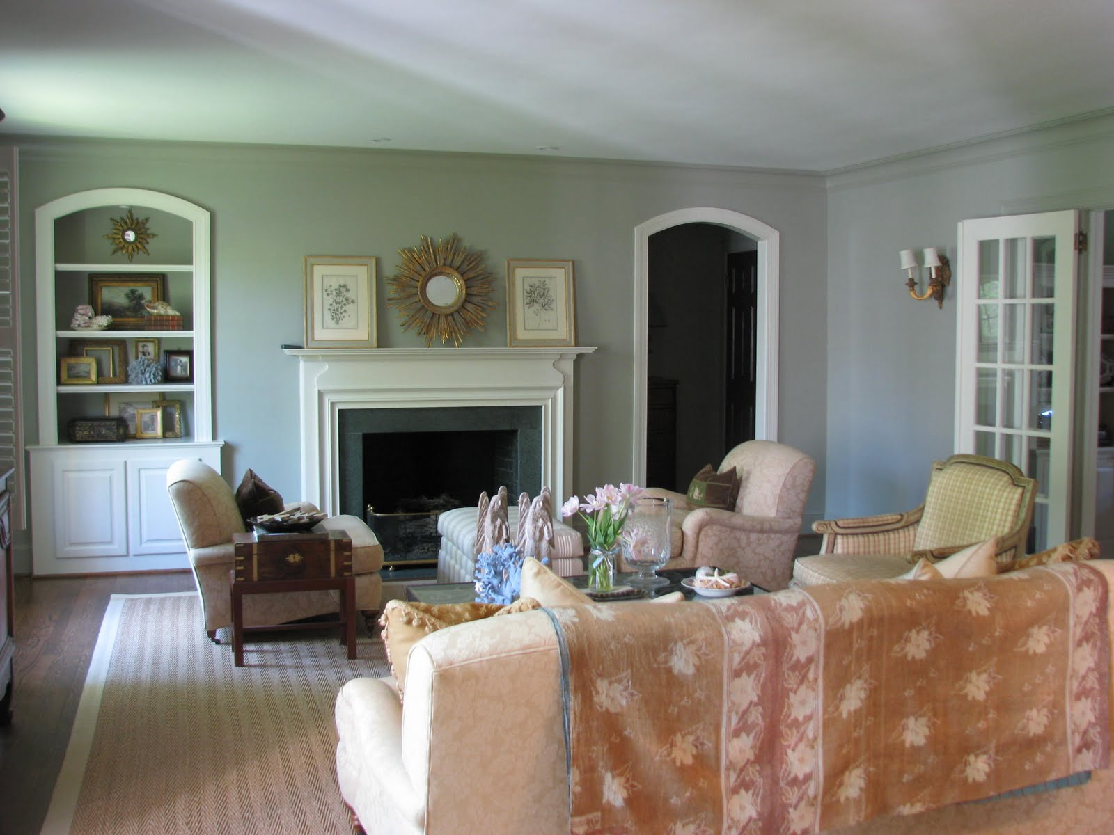 White Paint Living Room Livingroom Paint Ideas Blue Paint Color Seaworthy By Sherwin