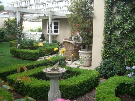 Karen's sundial, formal garden