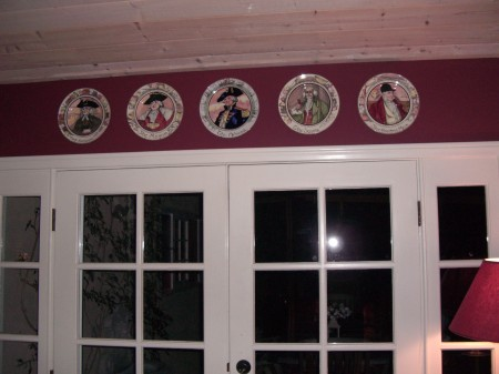 Karen B. French doors, Royal Dalton plates