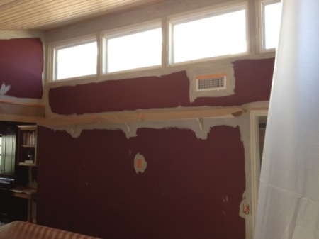 Painting the family room