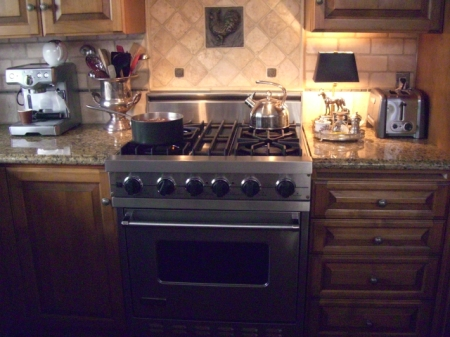 Viking stove, side counters 9.9.12