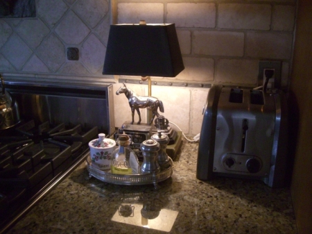 Kitchen horse lamp, toaster