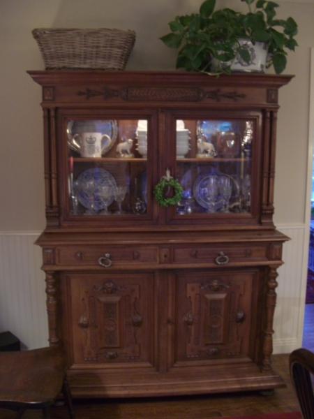 Antique Guild China Cupboard