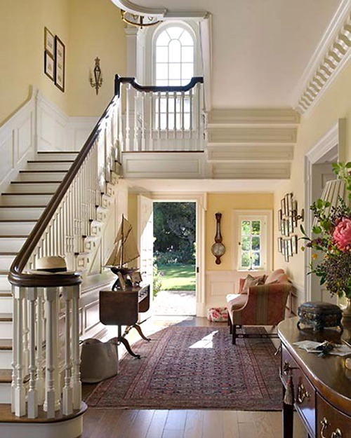 Interior Home Decoration Indoor Stairs Design Pictures: 15-wonderful Foyer VIA CONTENT IN A COTTAGE