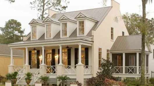 3-Dream Home White with Black Shutters southernlivinghouseplans.com