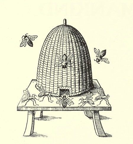 bee skep the simple front porch