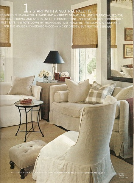 2-living room, linen heirloom...