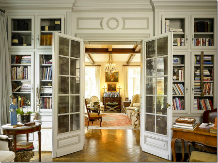 Study office garden home party - Interior french doors for office ...