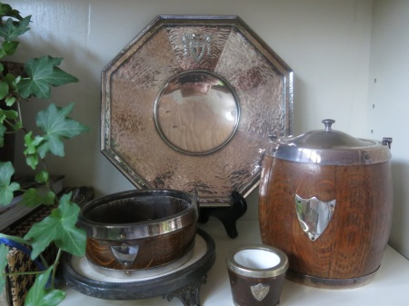 English tray and biscuit barrel
