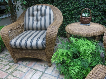 outdoor wicker, atrium
