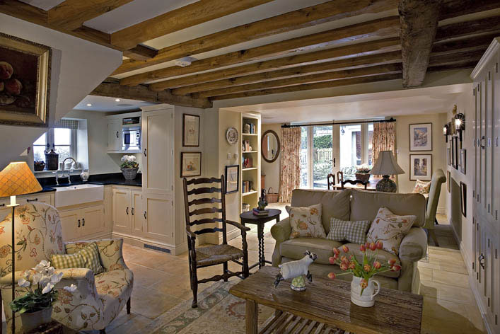 Small Cottage Interior Design Cottage Style Kitchens Living Rooms With