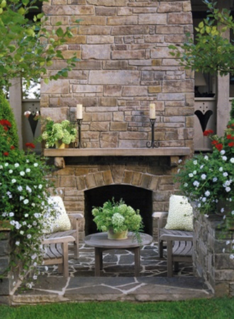 Garden, Home and Party: Outdoor rooms