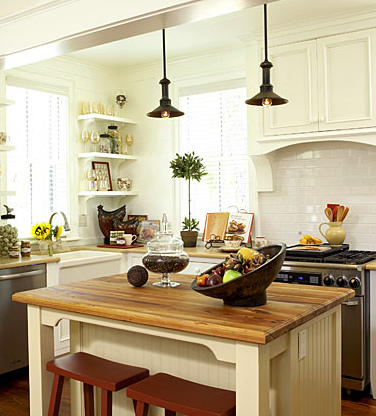 Garden, Home and Party: kitchens, dark and light