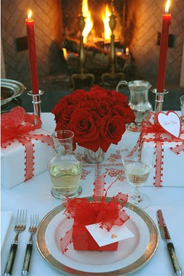 Valentine Day Dinner Table Setting 2 14 13 Party Resources Garden