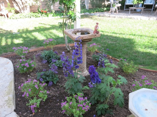 Garden, Home and Party: patio flower bed, finally